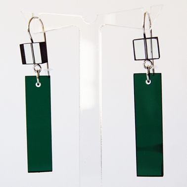 glass and green construction earrings 15