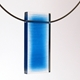 Blue frayed pendant