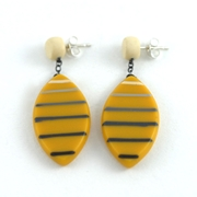 drop leaf ombre stripe earrings