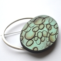 mint brooch