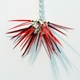 Mixed Reds Single Pom Pom Necklace-Detail