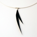 Black 1 Piece Asymmetrical Necklace