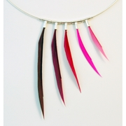 Mixed Pinks 5 Piece Asymmetrical Necklace