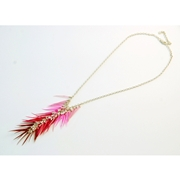 Mixed Pinks Chandelier Necklace