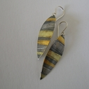 Seamed Stripe Petal Drop Earrings