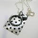 Square Dotty Pillow Pendant with Chunky Circle