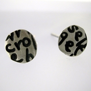Small Writing Stud Earrings