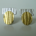 Oval-Gold Bar studs