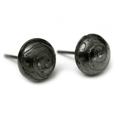 Pillow Pod Studs, etched swirl