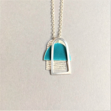 Deep Turquoise Three shape pendant