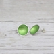 Grass Green SIlver and Enamel Studs