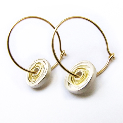 Large Spiral Hoops (Side)
