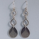 Triple teardrop leaf earring