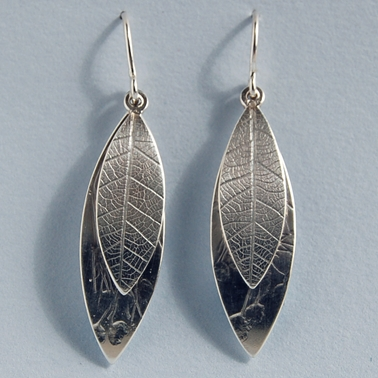long double leaf drop earring