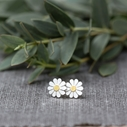 Teeny daisy earrings