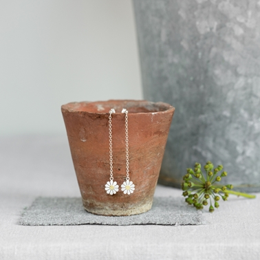 Daisy and chain earrings