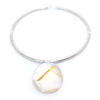 Large Pebble Choker Silver