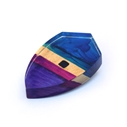 Purple Kite Block Brooch