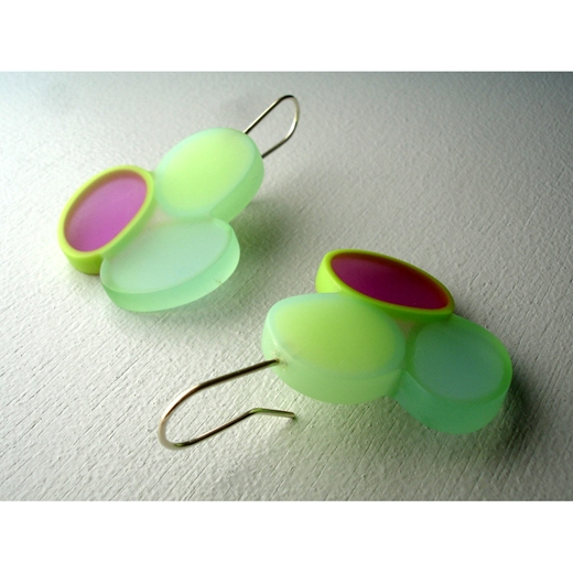 earrings 3 ovals