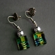 Bottle Drop Earrings in Green Turquoise
