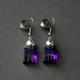 Bottle Drop Earrings in Purple
