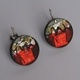 Red 50s Drop Earrings