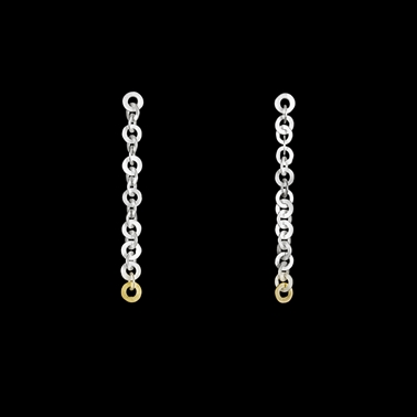 Tay earrings silver and gold