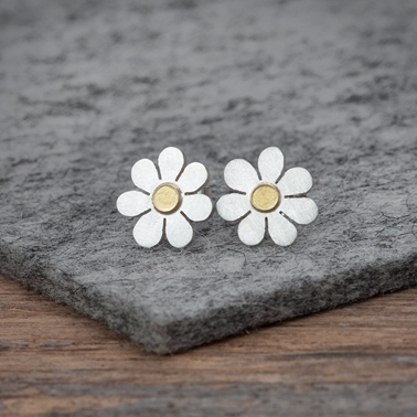 Forget me not earrings 2