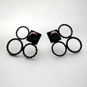 Asymmetric Circles Earrings