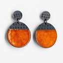 Buoy earrings orange
