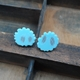 pale blue mini bloom studs