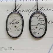 oval postcard earrings