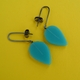 turquoise petal drop earrings, medium size