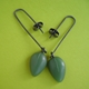 olive petal drop earrings