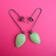 pale lime petal drop earrings