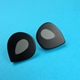 black and grey medium petal studs
