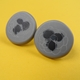 grey round earrings
