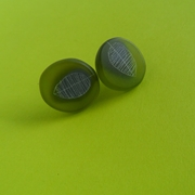 olive and grey studs