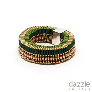Art Deco Stripe Braid Bracelet