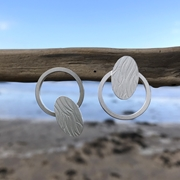 eco silver earrings