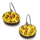 Yellow Oval Earrings
