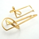 Dropknot Earrings- gold