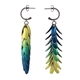 Elytra Reversible Earrings yellow-blue