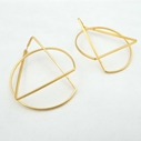 Large hoop earrings gold plate