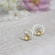 Silver and Gold Plated Hoop Stud Earrings