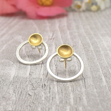 Halo Silver and Gold Interchangeable Studs