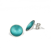 Enamel Large Stud Earrings