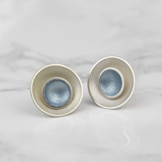 Two in One Studs - Ice Blue