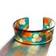 Orange & teal tiny Hydrangea flower cuff