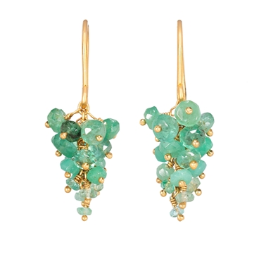Emerald Grape Earrings